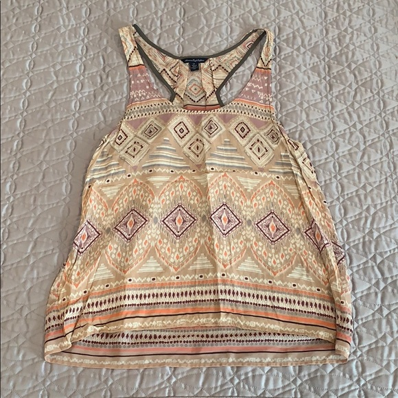 American Eagle Outfitters Tops - Patterned racer back tank top